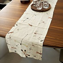 Belvedere Dragonflies Washed Table Runner Brambly