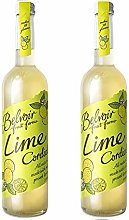 Belvoir Lime Cordial 500ml Glass Bottle (Pack of 2)