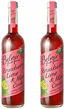 Belvoir Strawberry & Lime Cordial 500ml Glass