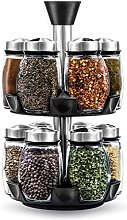 Belwares Herb and Spice Rack with 12 Glass Jar