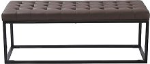 Bemis Faux Leather Bench Mercury Row Upholstery: