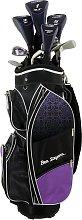 Ben Sayers M8 Golf Club Set and Cart Bag - Purple