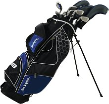 Ben Sayers M8 Golf Club Set and Stand Bag - Blue