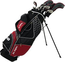 Ben Sayers M8 Golf Club Set and Stand Bag - Red