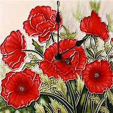Benaya Classic Poppies Wall/Desk Clock