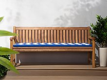 Bench Cushion Blue with White Outdoor Waterproof Seat Pad