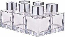 BENECREAT 6 Packs 50ml Square Glass Diffuser