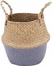 Benedict Seagrass Wickerwork Basket Rattan Flower