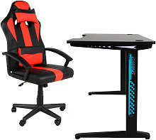 Beneffito - GHOST - GAMER Chair and LED Desk Set -