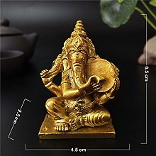 BENGKUI Sculpture,Golden Lord Ganesha Statue