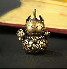 BENGKUI Sculpture,Lucky Cat Copper Pixiu Mascot