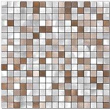 BeNice Kitchen Metal Tile Stickers,Self Adhesive