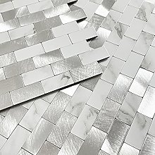 BeNice Kitchen Metal Tile Stickers,Stick on