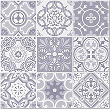 BeNice Metal Tile Stickers Mexico Mosaic, Stick on