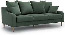 Benito 3 Seater Sofa OPTISOFA Colour: Green