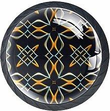 Bennigiry 4 Pcs Cool Celtic Crystal Glass Drawer