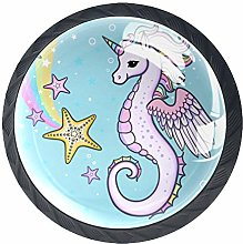 Bennigiry 4 PCS Rainbow Seahorse Unicorn With