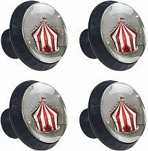 Bennigiry 4 PCS Red Fashion Circus Tent Crystal