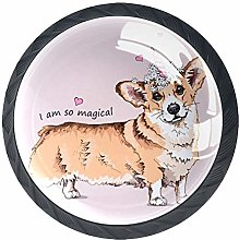 Bennigiry 4 PCS Welsh Corgi Dog With A Pink