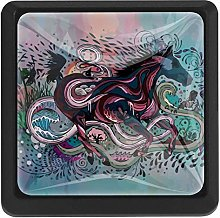 Bennigiry Abstract Watercolor Animal Horse Square