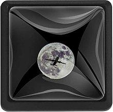 Bennigiry Airplane Moon Flight Square Crystal