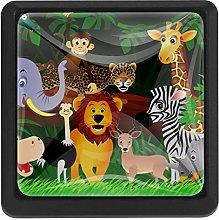 Bennigiry Animals Square Crystal Glass Cabinet
