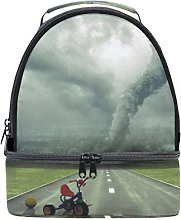 BENNIGIRY Approaching Tornado Insulated Lunch Bag