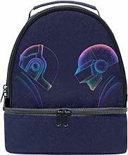 BENNIGIRY Daft Punk Dj Art Insulated Lunch Bag