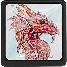 Bennigiry Dragon Square Crystal Glass Cabinet Door