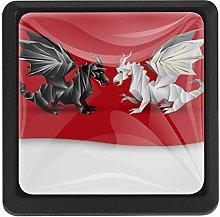 Bennigiry Dragons Square Crystal Glass Cabinet
