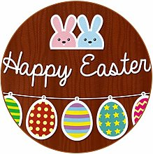 Bennigiry Easter Bunny And Egg Wooden Background