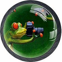 Bennigiry Fun Frog Crystal Glass Drawer Knob Pull