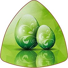 Bennigiry Green Easter Egg Background Set of 6