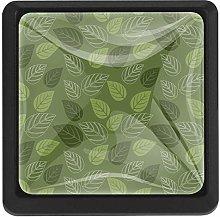 Bennigiry Green Leaves Square Crystal Glass