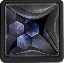 Bennigiry Hexagons Space Patterns Square Crystal