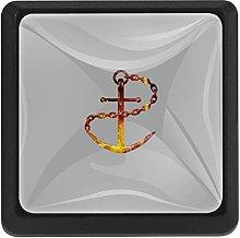 Bennigiry Nautical Anchor Square Crystal Glass