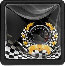 Bennigiry Racing Background Square Crystal Glass