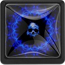 Bennigiry Skull Gothic Patterns Square Crystal