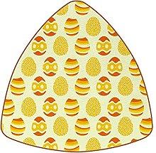 Bennigiry Yellow Easter Egg Pattern Drink Coasters