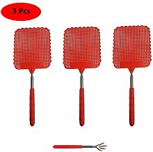 Benrise 3 Pcs Fly Swatter Extendable, Upgrade