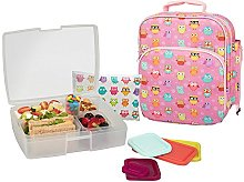 Bentology Lunch Bag and Box Set for Girls -