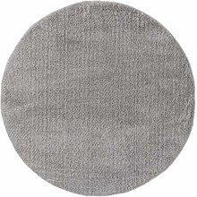 benuta ESSENTIALS Rug, Polyester, Gray, ø 120 cm