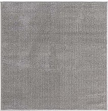 benuta ESSENTIALS Rug, Polyester, Gray, 160x160 cm