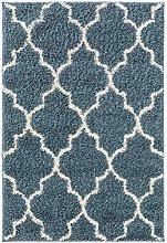 benuta TRENDS Rug, Polypropylene, Blue, 160x230 cm