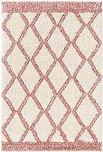 benuta TRENDS Rug Polypropylene Pink 80 x 150 cm