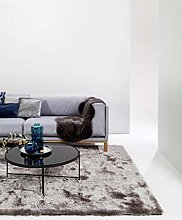 benuta Whisper Shaggy Deep-Pile Carpet Grey 140 x