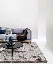 benuta Whisper Shaggy Deep-Pile Carpet Grey 80 x