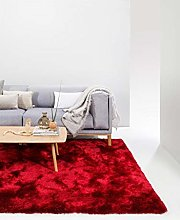 benuta Whisper Shaggy Deep-Pile Carpet Red 140 x
