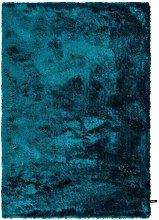 Benuta Whisper Shaggy Deep-Pile Carpet Turquoise