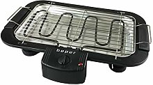 Beper Electric Barbecue with Double Grill, Black,